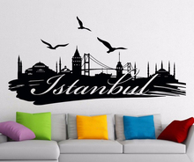 Istanbul Wall Decal Logo Turkey Famous Silhouette Scenery Word City Vinyl Sticker Home Room Interior Decor Mural