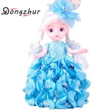 Dongzhur 3D Simulation Eyes Dolls Girls' Birthday Gift Car Decoration Fashion Ornaments Beautiful Princess Rotatable Joint Doll(China)