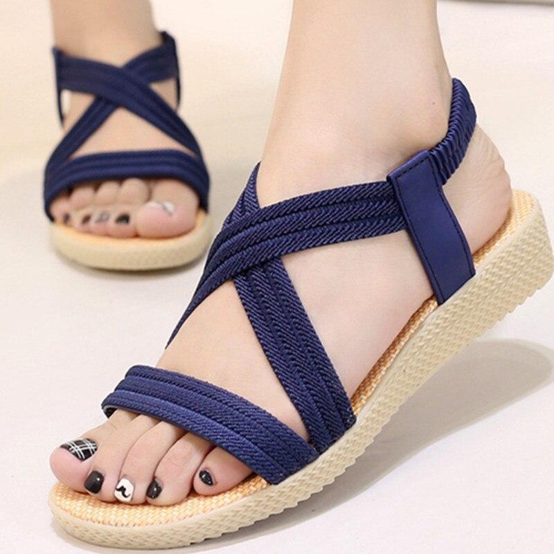 Frauen Schuhe Liefern Neue Flache Sandalen Frauen Böhmen Strand Sommer Schuhe Frauen Sandalen Scarpe Donna Zapatos Mujer Alias
