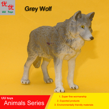 Hot toys:Middle Grey Wolf Simulation model  Animals   kids  toys children educational props