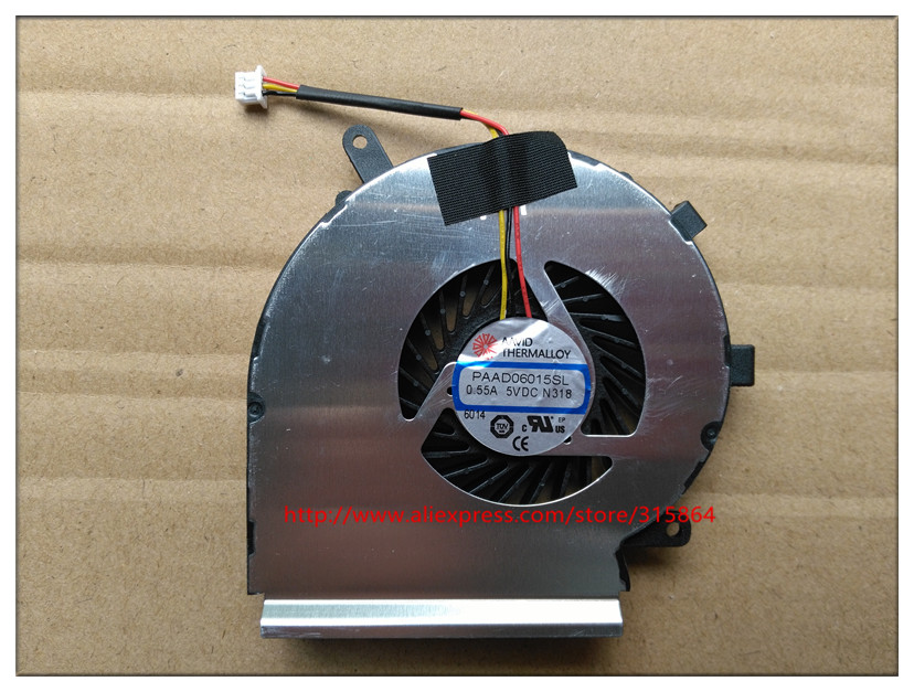 New for MSI GE62 GE72 GL62 GL72 PE60 PE70 CPU Cooling fan cooler PAAD06015L N318 3-pin original<br>