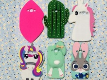 3D Cute Cartoon Cactus animals rabbit Lips Rainbow Unicorn Soft Silicone Rubber Case Cover For Samsung Galaxy 2015 J5 J500