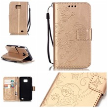 Flip Patterned 3D Bling PU Leather Wallet Card Slot Stand Case Cover Bumper For Samsung GALAXY SII S2 i9100