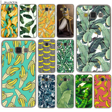banana leaf pattern Tropical Leaves Fruit Hard Case Cover for Samsung Galaxy S8 Plus S3 S4 S5 & Mini S7 Edge S6 Edge Plus