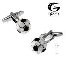 iGame New Arrival Football Cuff Links Soccer Design Free Shipping(China)
