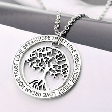 Personalized Hollow Life Tree Family Gifts Lover Pendant Necklace Trust Love Dream Hope Women Men Jewelry Necklaces Charm