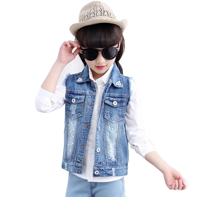 Jean Jacket Sleeveless Girls Reviews  Online Shopping