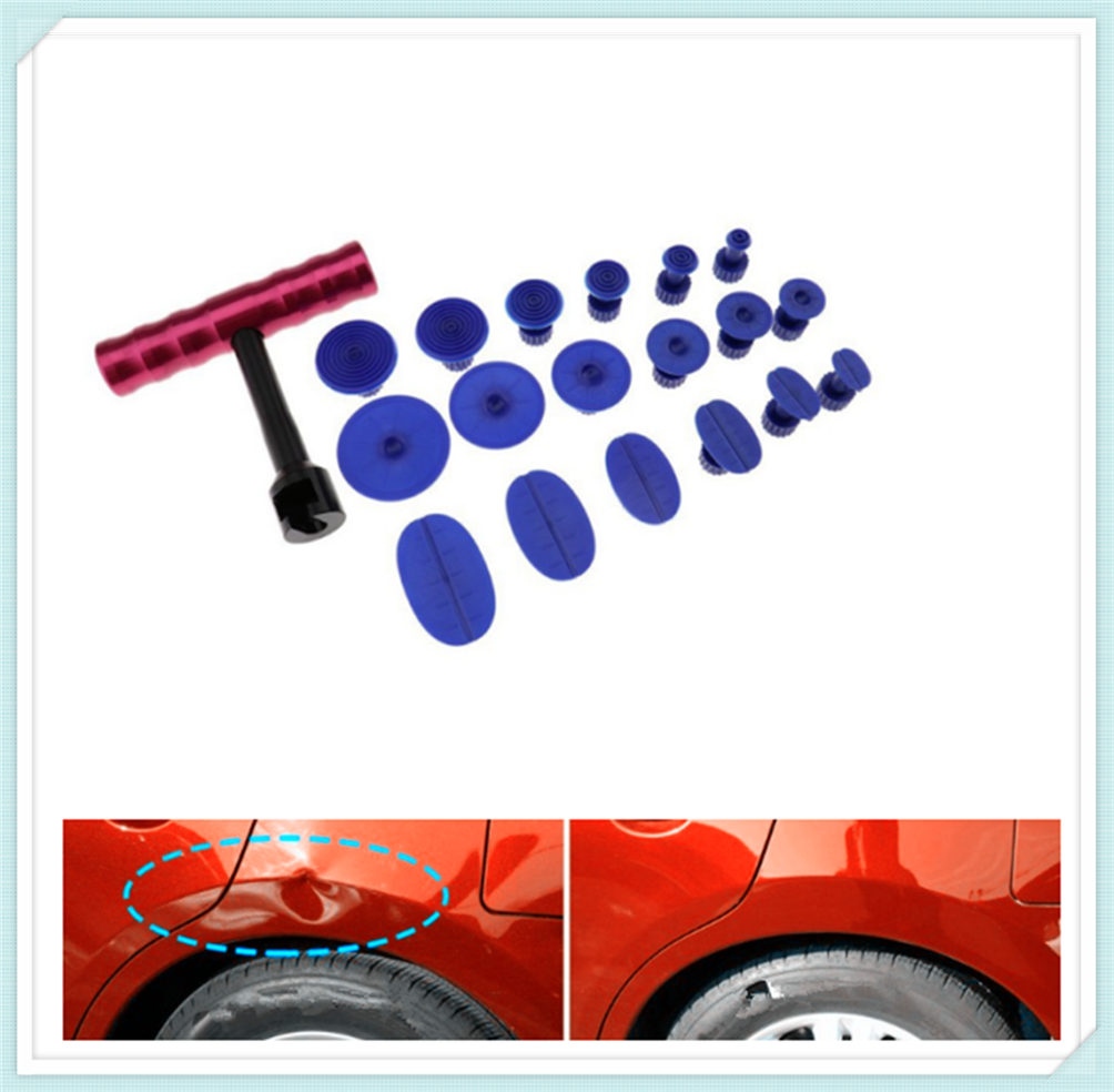 Car Hail Dent Repair Puller + Sheet Metal Plastic Suction Cup Kit for Porsche Macan Cayenne 911 Panamera Mission