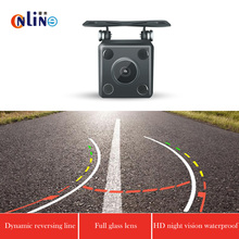 Intelligent Dynamic Trajectory Tracks Rear View Infrared lamp Camera CCD Reverse Backup Camera Auto Reversing Parking Assistance(China)