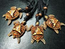 FREE SHIPPING 4 pcs New Fashion adjustable Rope tortoise Necklaces turtle Gift