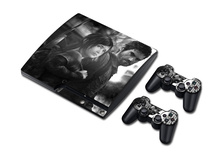 5sets STICKER COVER  for PS3 SLIM + 2 CONTROLLER SKINS for PS3 skin stickers The Last OF US