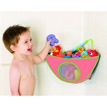 New Funny Kids Baby Bath Tub Toy Bag Hanging Organizer Storage Red(China)
