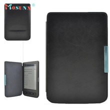 Hot-sale MOSUNX Tablet New Stand Folio Flip Crazy Horse Leather Case Cover For Pocketbook 614 624 626 640 E-reader E-book Gifts