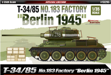 Academy 13295 1/35 Plastic Model Kit T-34/85 No.183 Factory Berlin 1945 NEW