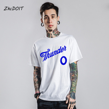 2018 newest russell westbrook jersey white top westbrook 0 christmas men t shirt homme blue orange white,tx2434(China)