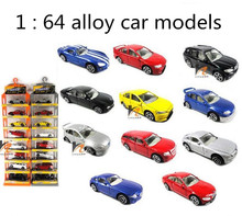 Classic toys! 1:64 alloy car toy model,Sliding car random mixed,8 pieces lot , intellectual toys,Free shipping(China)