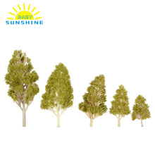 Trees Model 5Pcs/Set Plastic Architectural Model Railroad Layout Garden Landscape Scenery Diorama Miniatures Trees Model(China)