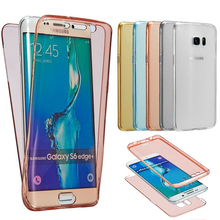 For Samsung Galaxy A3 A5 A7 2016 2017 J3 J5 J7 Prime S5 S7 S6 Edge S8 PLUS Soft TPU Full body Clear Transparent Gel Case Cover