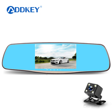 dual lens car camera rearview mirror auto dvrs cars dvr recorder video registrator camcorder full hd 1080p night vision dash cam(China)