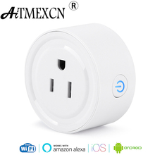 Mini Wifi Smart Plug US Power Socket Remote Control Plug with Timing Function Works with Alexa Smart Home Automation Electronic(China)
