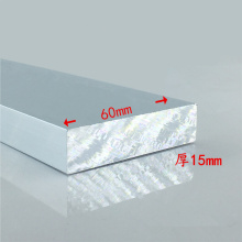 Aluminium alloy plate 15mmx60mm article aluminum 6063-T5 oxidation width 60mm thickness 15mm length 150mm 1pcs