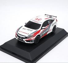 Original 1:43 scale alloy racing model, high simulation Honda Civic, metal castings, collection model toy vehicle, free shipping