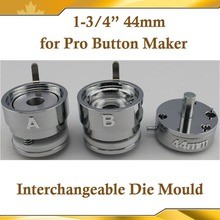 "Round 1-3/4""(44mm) Interchangeable Die Mould for New Pro Badge Machine Button Maker"