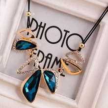 2 Colors New Statement Choker Vintage Charms Geometric Women Collar Rhinestone Crystal Gem Necklaces&Pendants Fine Jewelry