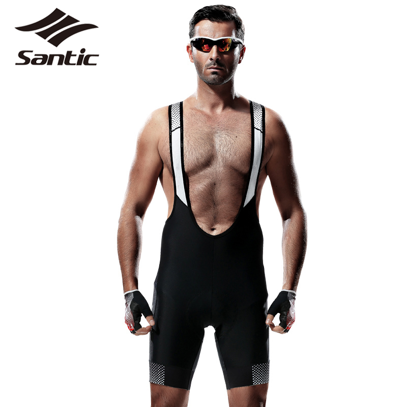 Santic Cycling Shorts Pro Breathable Padded MTB Bike Shorts Bicycle Clothing Team Racing Quick Dry Bibs Shorts Bermuda Ciclismo<br>