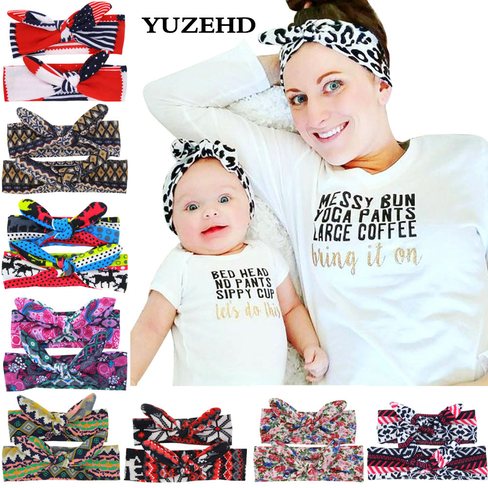 YUZEHD Mom and Me Headband With Knit Fabric Girls Headband Mommy and me Matching Headbands Photo