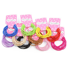 JEYL 2X New 100pcs Baby Girl Kids Tiny Hair Accessary Hair Bands Elastic Ties 10 Colors(China)