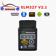 Latest Design HH OBD MINI ELM327 V2.1 Torque Android Bluetooth OBD2 OBDII CAN BUS Check Engine HH ELM 327 Auto ECU Code Scanner