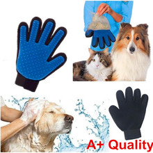 True Touch  Five Finger Deshedding Glove for Gentle and Efficient Pet Grooming As Seen On TV Free shipping