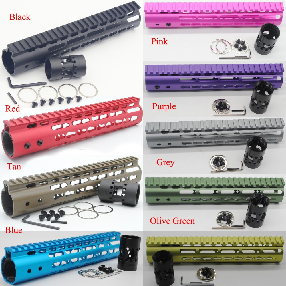9 Colors anodized 10 inch Length Ultralight Slim Keymod Handguard Rail Free Float Mount System For AR-15/M4/M16 .223/5.56<br>
