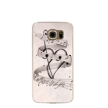 06851 MUSIC NOTES MUSIC IS LIFE cell phone case cover for Samsung Galaxy S7 edge PLUS S6 S5 S4 S3 MINI