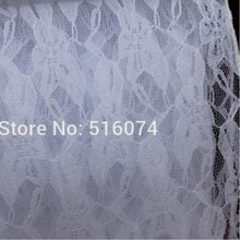 100 pcs 30cm*275cm Vintage Rustic Wedding Lace white Table Runner Decoration free shipping
