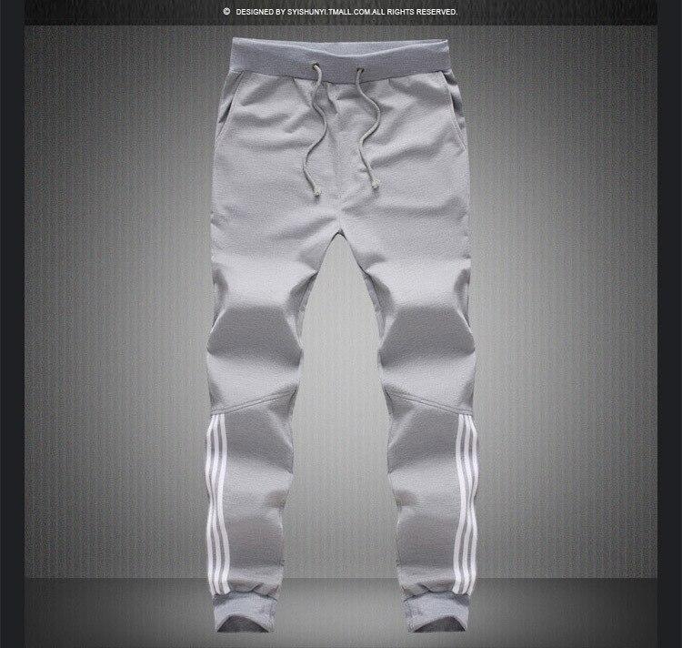 17 New Fashion Tracksuit Bottoms Mens Pants Cotton Sweatpants Mens Joggers Striped Pants Gyms Clothing Plus Size 5XL 7