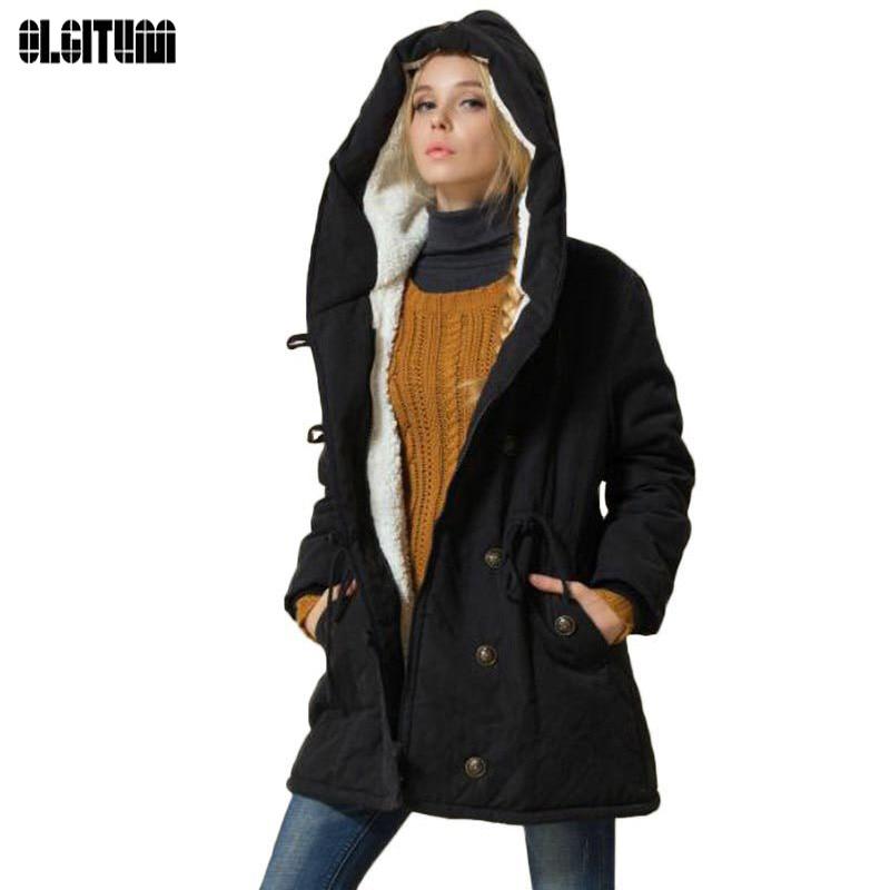 2017 New Arrive Winter Women Jackets Cotton Padded Female Version Long Section Cashmere Coat  Winter Jackets Plus Size CC082Îäåæäà è àêñåññóàðû<br><br>