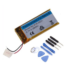 Brand New 3.7V Li-ion Battery Replacement 330mAh for iPod Nano 6 6th Gen 8GB 16GB with Tools