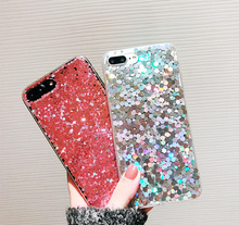 Hepu Net Red Dip Glitter for iPhone7plus Apple iphone X Phone Case 6S Pink iPhone8 all-inclusive female models personality