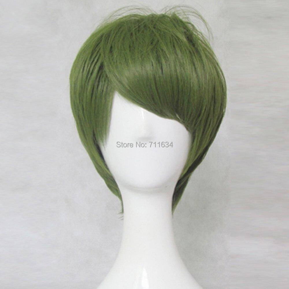 NEW Kurokos Basketball Midorima Shintaro Short Olive Green Cosplay Party Wig<br><br>Aliexpress