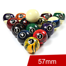 High Quality Billiard Balls Set 57mm Size 16 Colors Black 8 Billiards Accessories China 2016