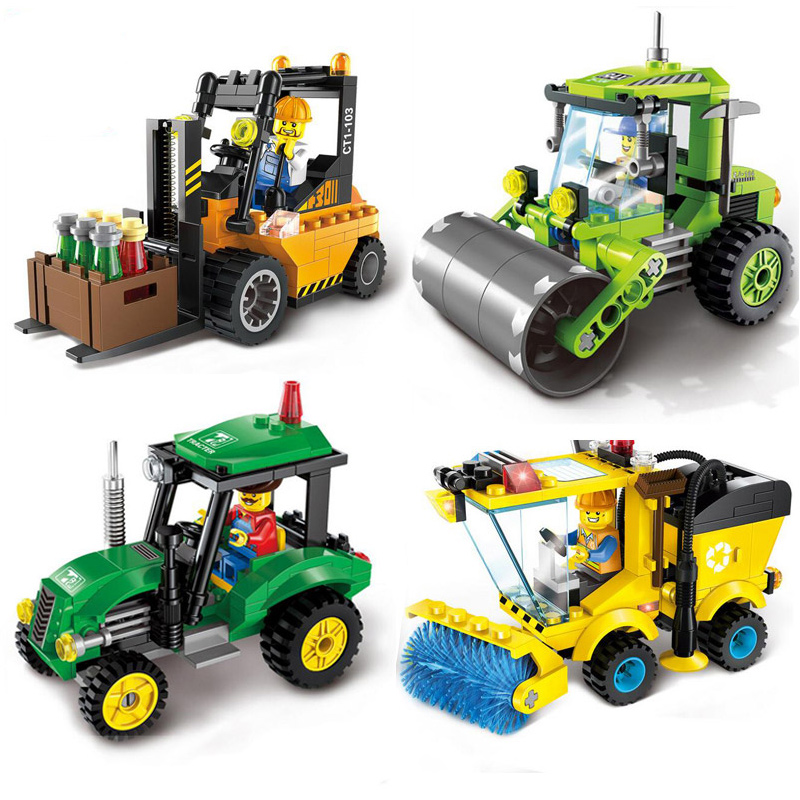 City Road Sweeper Blocks Toys for Children Kids Assembled Model Building Blocks Bricks Diy Figures Toys Educational Toys Gift(China)