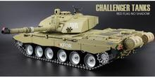 2.4Ghz RC 1/16 British Main Battle Tank model Challenger 2 Tank Ultimate metal version airsoft Smoke Sound Metal Gear Tracks