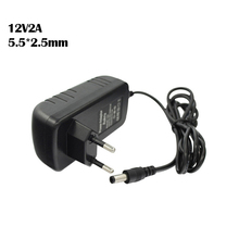CCTV Camera Accessories Power adapter AC 100-240V DC 12V 2A EU Plug AC/DC Power adapter for CCTV Camera (2.5mm * 5.5mm)(China)