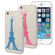 Promotional products: High Huality Fashionable Eiffel Tower Balloon Simple Strokes Pattern Cover Case Compatible For Iphone 5/5s