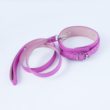 Buy pink sexy leather bondage harness slave collar leash dog toys bdsm fetish neck corset adult collars restraints sex products