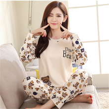 Fashion New Girls Pajamas causal carton women pajamas sets Sleepwear For women Home wear clothes Nightgown Sets