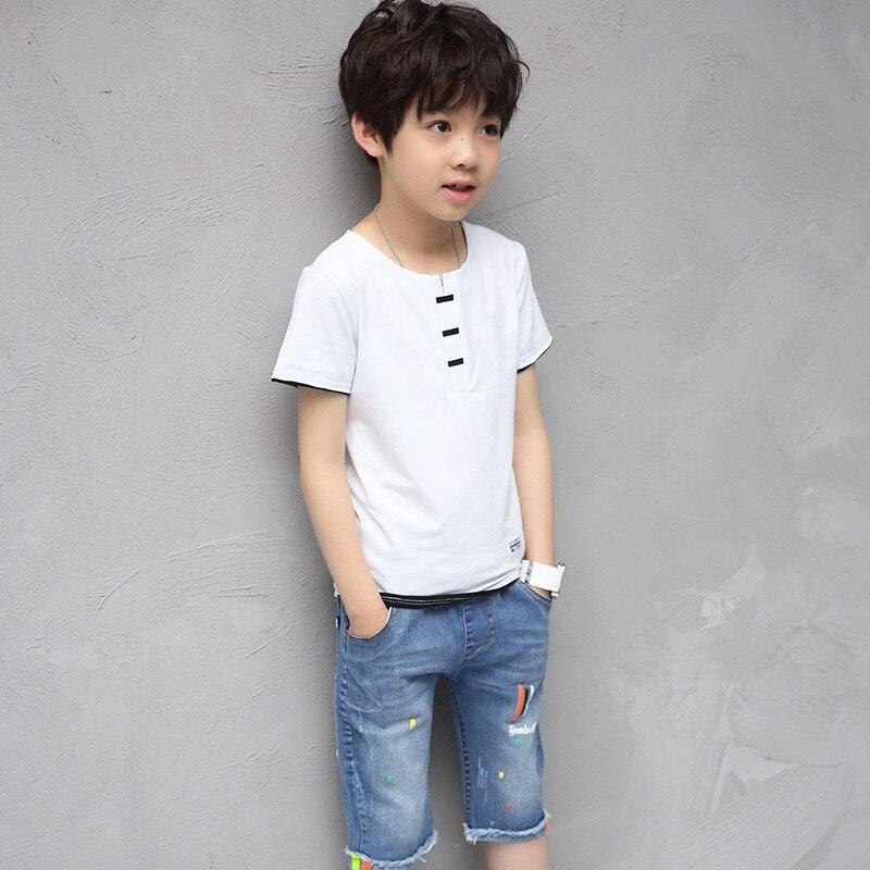 Summer Childrens Garment Catamite New Pattern Suit Child Fashion Concise Open Lead Cowboy Suit 2 Pieces Kids Clothing Sets<br>