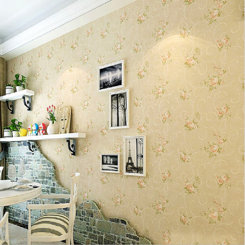 Wallpaper for walls 3 d Country style wallpaper bedroom romantic small floral vintage wallpapers papel de parede 3D Mural <br>